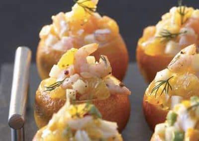 Clémentines aux crevettes