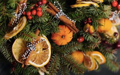 Une décoration de noël fait maison : la guirlande à la cannelle et orange